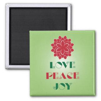 Love, Peace, Joy I Square Magnet