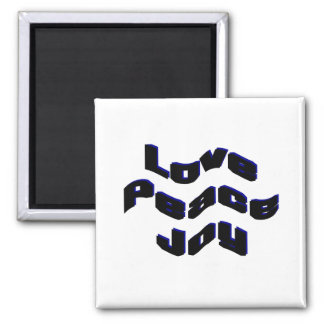 Love Peace Joy Fridge Magnets