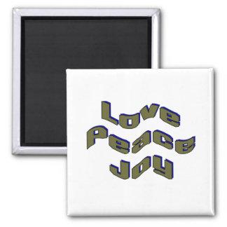 Love Peace Joy Magnets