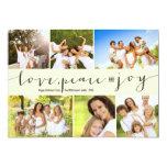 Love Peace Joy Multi Grid Holiday Photo Greetings