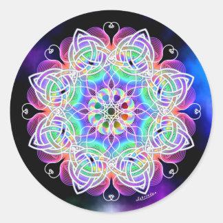 Love, Peace, Joy Round Sticker