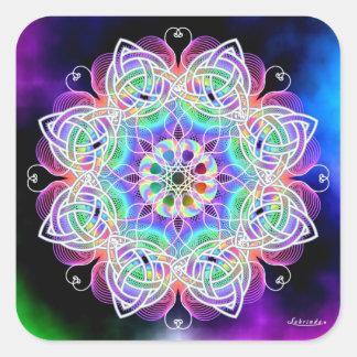Love, Peace, Joy Square Sticker