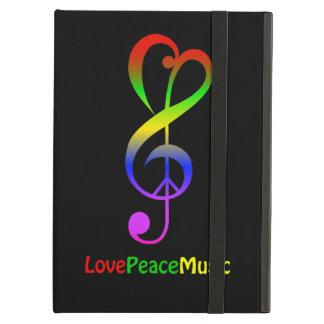 Love peace music hippie treble clef iPad air cases