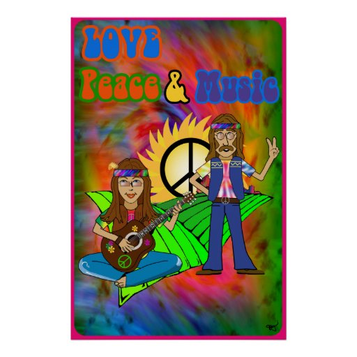 Love, Peace & Music Poster