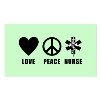 Love Peace Nurse Pack Of Standard Business Cards