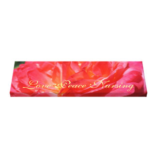 Love Peace Nursing Canvas Rose Art Prints Gallery Wrapped Canvas