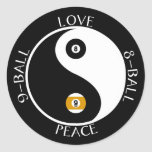 Love Peace pool stickers