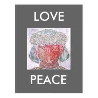 LOVE PEACE POSTCARD