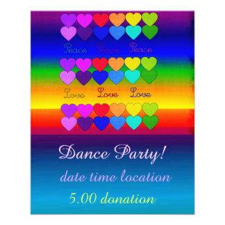Love, Peace, Rainbows 11.5 Cm X 14 Cm Flyer