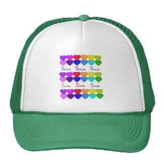 Love, Peace, Rainbows Cap