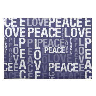 Love Peace Typography Place Mat