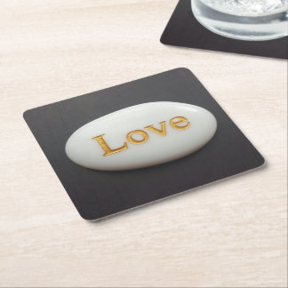 Love Pebble Coaster