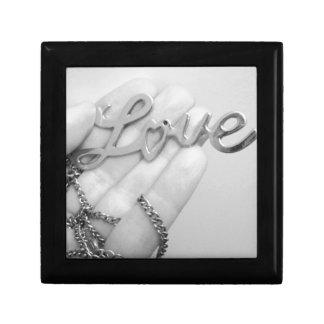 Love Pendant Necklace Photo Design Small Square Gift Box
