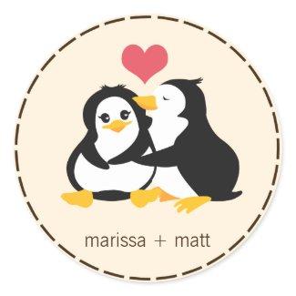 Love Penguins Custom Sticker