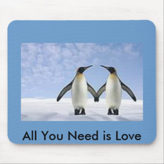 Love Penguins Mouse Mat