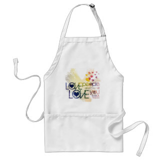 love people and they will love you back standard apron