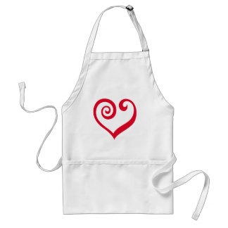 Love. Period! Red Heart of Love Statement Adult Apron