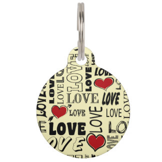 Love Pet ID Tag