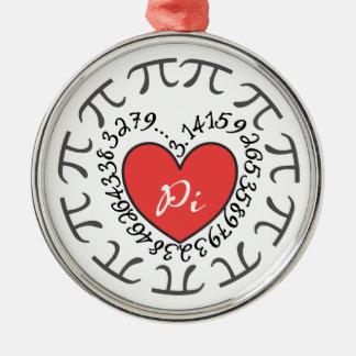 Love Pi 3.14 Christmas Ornament