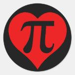 Love Pi Round Sticker