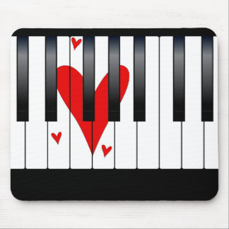 Love Piano Mouse Mat