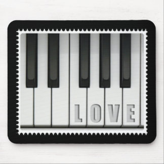 Love Piano Mouse Pad