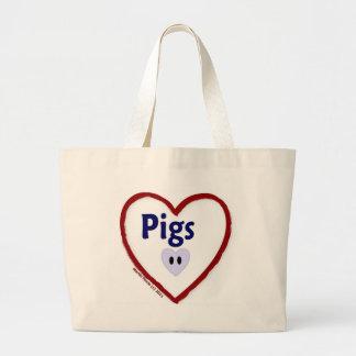 Love Pigs Jumbo Tote Bag