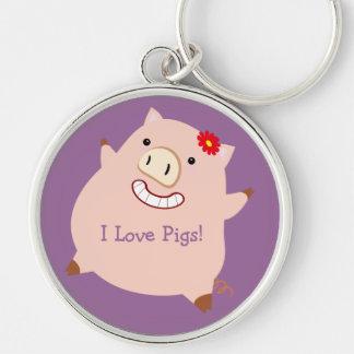 Love Pigs (pretty pig) Key Chain