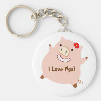 Love Pigs (pretty pig) Keychain