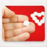 Love pill mouse mat