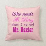 Love Pillow Gift for Home Mr. Darcy Jane Austen