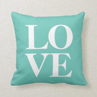 Love Pillow | Teal Throw Cushion