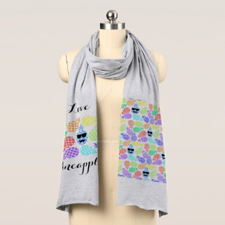 """Love Pineapple"" Colorful Scarf"