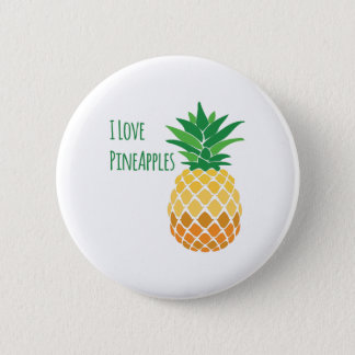 Love Pineapples 6 Cm Round Badge