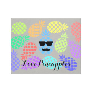 """Love Pineapples"" Colorful Canvas"
