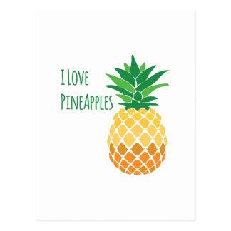 Love Pineapples Postcard