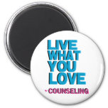 Love Pink Counseling Gifts 6 Cm Round Magnet