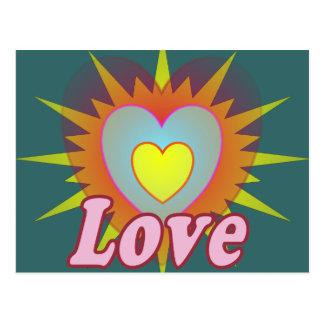 Love Pink Heart Postcard