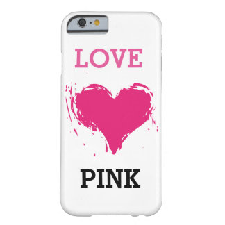 Love Pink iPhone case (customize background color) Barely There iPhone 6 Case