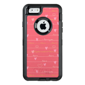 Love pink romantic otterbox iphone case