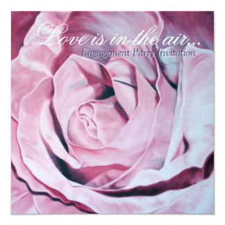 Love pink roses Engagement Party invites