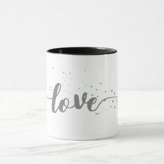 Love-Pink Text-Decor Modern Mug