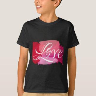 Love Pink Watercolour T-Shirt