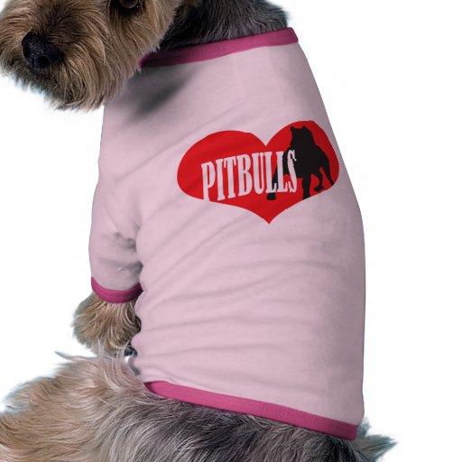 Love Pitbulls Dog Tee Shirt