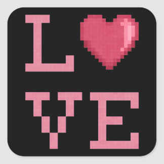 Love Pixels Stickers