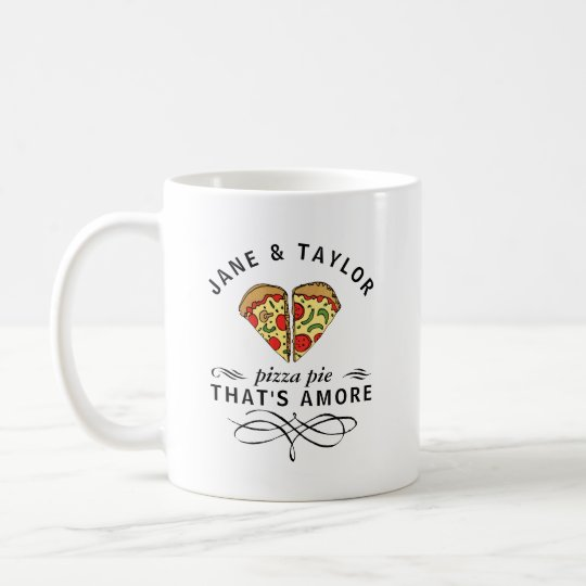 Love Pizza Personalised Coffee Mug