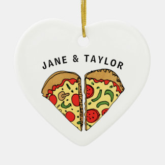 Love Pizza Personalized Christmas Ornament