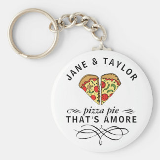 Love Pizza Personalized Key Ring