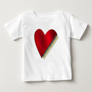 Love Playing Piano Baby T-Shirt
