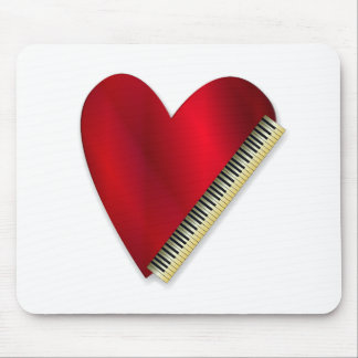 Love Playing Piano Mouse Pad